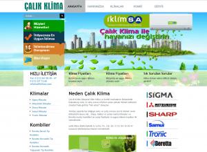 Çalık Klima Web tasarım