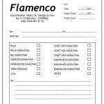 Flamenco tadilat Fişi