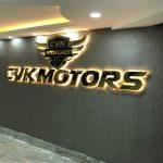CVK Motors Krom Kutu Harf Tabela